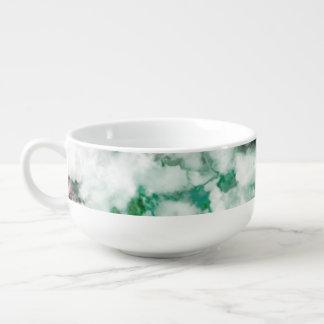 Texture marbrée de quartz mug à soupe