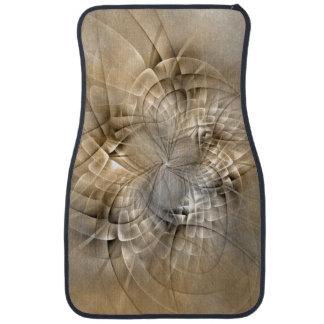 Texture moderne d'art de fractale d'abrégé sur tapis de voiture