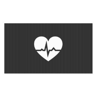 Texture moderne de gris de coeur de cardiologie de modèles de cartes de visite