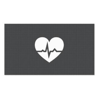 Texture moderne de gris de coeur de cardiologie de cartes de visite personnelles