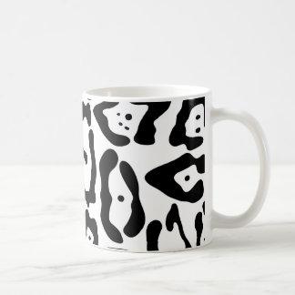Texture noire et blanche de peau de léopard mug
