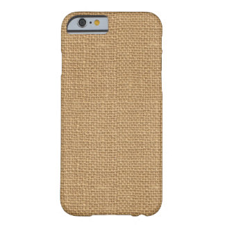 Texture rustique florale simple de toile de jute coque barely there iPhone 6