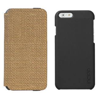 Texture rustique florale simple de toile de jute coque-portefeuille iPhone 6 incipio watson™