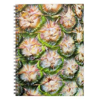 Texture tropicale de poinçon d'ananas carnet