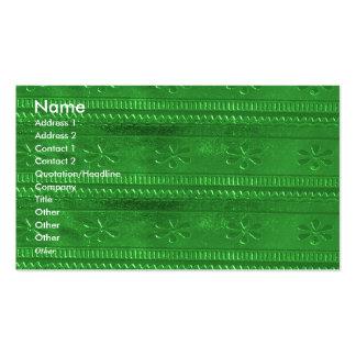 Texture unique de nuances de vert de bijou de carte de visite standard