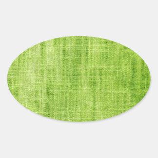 Texture verte de tissu autocollant ovale