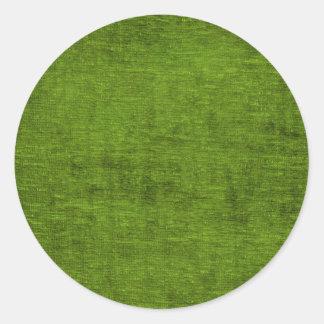 Texture verte de tissu de Chenille de Noël Sticker Rond