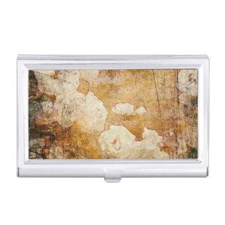 texture vintage florale grunge d'arrière - plan porte-cartes de visite