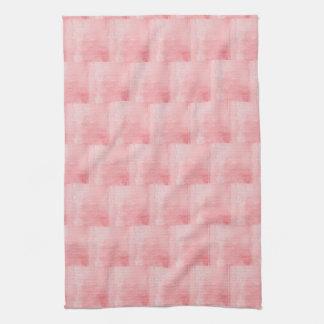 Texturisé rose serviettes pour les mains