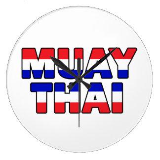 Thaïlandais de Muay Grande Horloge Ronde