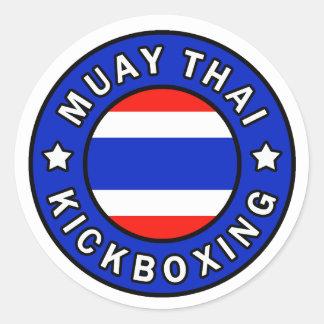 Thaïlandais de Muay Sticker Rond