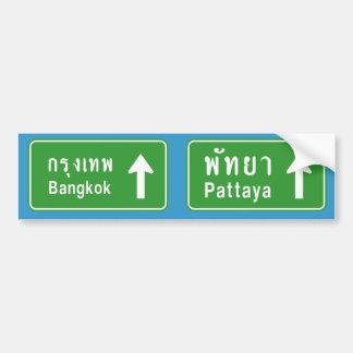 ⚠ thaïlandais de poteau de signalisation de ⚠ de autocollant de voiture