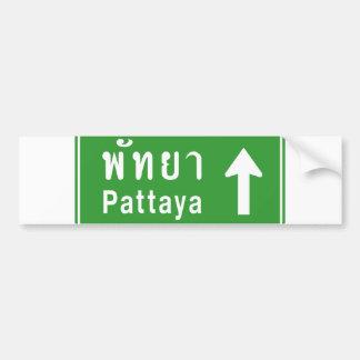 ⚠ thaïlandais de poteau de signalisation de route autocollant de voiture