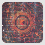 Thangka astronomique tibétain sticker carré