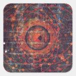 Thangka astronomique tibétain stickers carrés