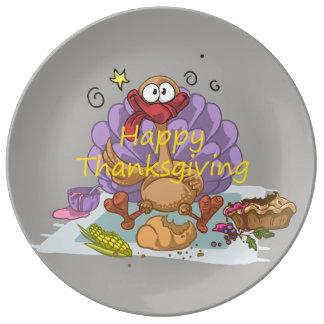 Thanksgiving Assiettes En Porcelaine