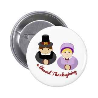 Thanksgiving béni badges avec agrafe