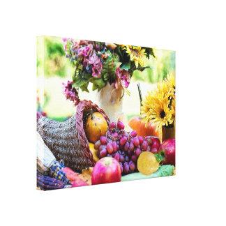 Thanksgiving Cronucopia avec des fruits et des Toile