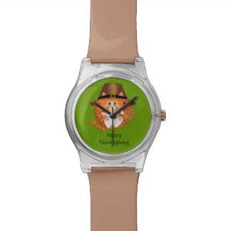 Thanksgiving de chat de babiole montres bracelet