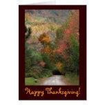 Thanksgiving de route de campagne cartes