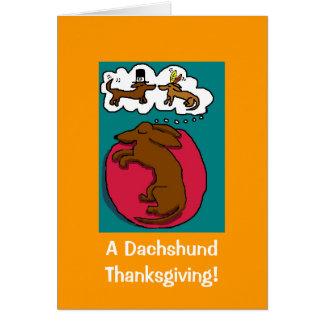 Thanksgiving de teckel cartes