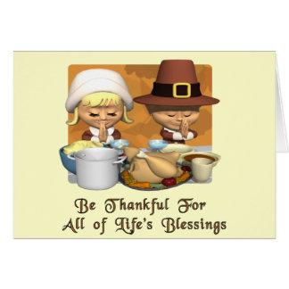 Thanksgiving : Les bénédictions de la vie Carte De Vœux