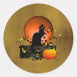 Thanksgiving Noir de conversation Sticker Rond