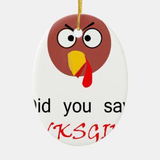 Thanksgiving ! ornement ovale en céramique