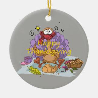 Thanksgiving Ornement Rond En Céramique