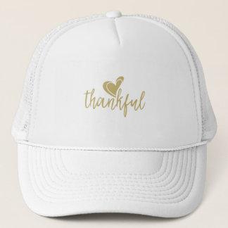 thanksgiving reconnaissant de coeur casquette