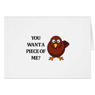 Thanksgiving Turquie (voulez un morceau) Carte De Vœux