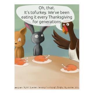 Thanksgiving végétalien drôle carte postale