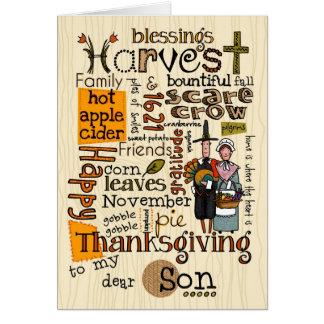Thanksgiving Wordcloud - fils Carte De Vœux