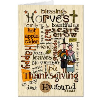 Thanksgiving Wordcloud - mari Carte De Vœux