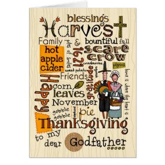 Thanksgiving Wordcloud - parrain Carte De Vœux