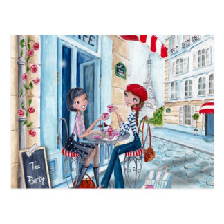 Thé à Paris - cartes postales