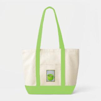 Thé dans le sac vert