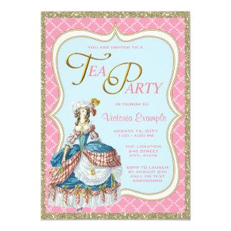 Thé de Marie Antoinette Carton D'invitation 12,7 Cm X 17,78 Cm