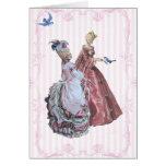 Thé de Marie Antoinette dans le jardin à Versaille Carte De Vœux