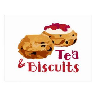 Thé et biscuits carte postale