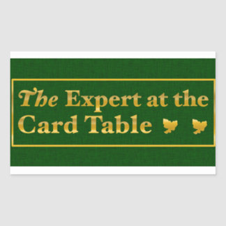 The expert at the card table sticker (Green)