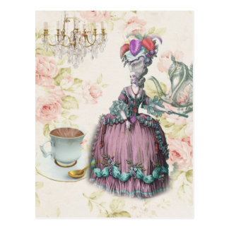 Thé floral français Marie Antoinette de Paris Carte Postale