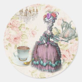 Thé floral français Marie Antoinette de Paris Sticker Rond