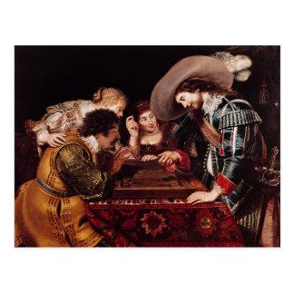 The Game de backgammon Cartes Postales
