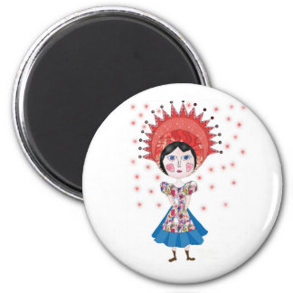 The queen magnet rond 8 cm