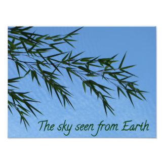 the sky seen from Earth Impression Photo