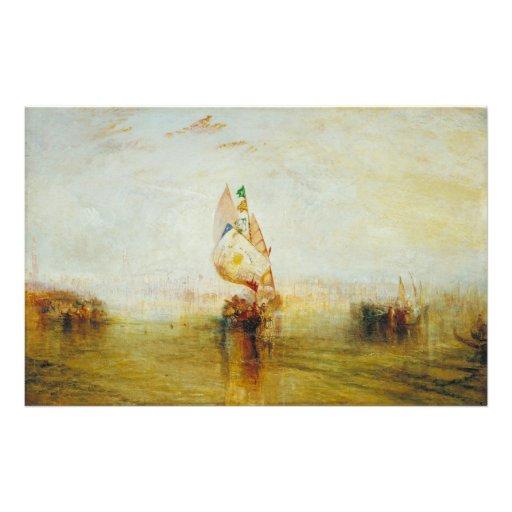 The Sun de Venise allant à la mer par Joseph Turne Papier À Lettre