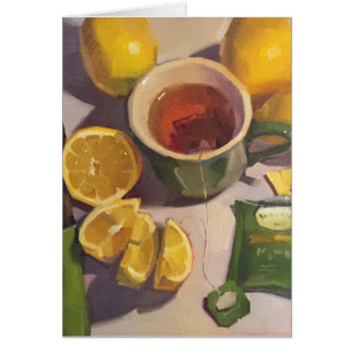 """""""Thé vert carte vierge avec de citrons"""" art"""