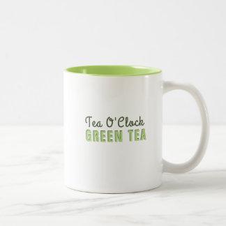 Thé vert d'horloge faite sur commande du thé O Tasse 2 Couleurs