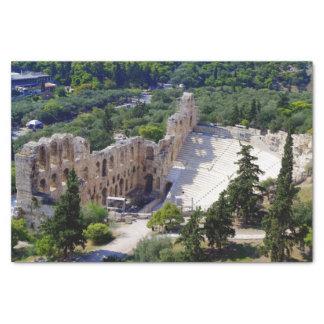 Théâtre d'Atticus de Herod - Athènes Papier Mousseline